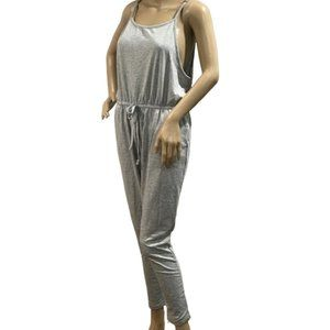 Lounge Jogger Jumpsuit Pockets Heather Gray
